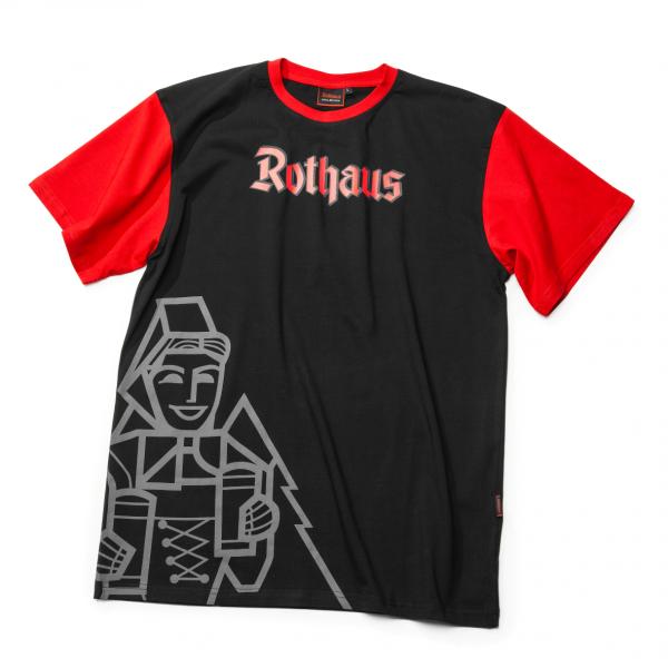 T-Shirt schwarz/rot