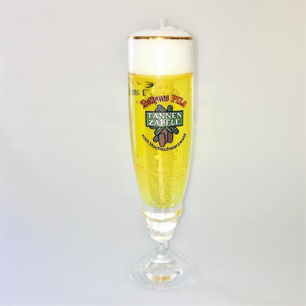 Kerze im tannenz pfle glas accessoires fanartikel for Kerze glas