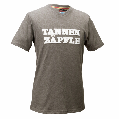 T-Shirt Tannenzäpfle, grün melange