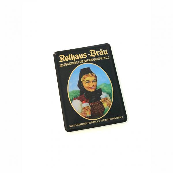 """Blechpostkarte """"Historische Biergit Kraft"""""""