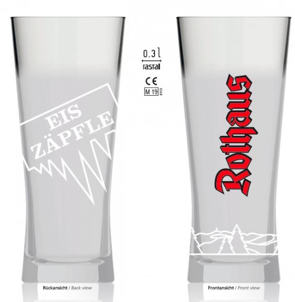 Eiszäpfle-Glas