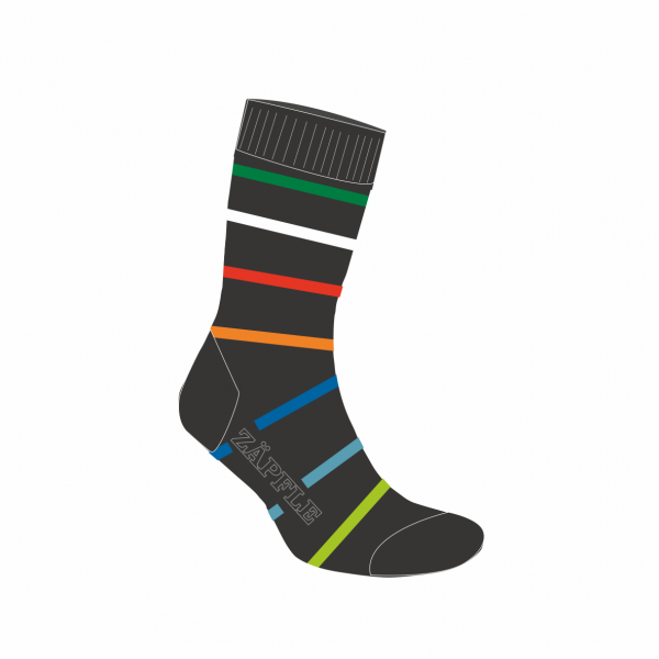 "Socke ""Zäpflefarben"""