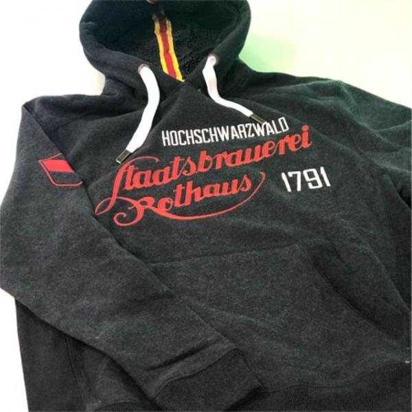 HERREN Kapuzen-Pullover/ Hoodie, grau melange