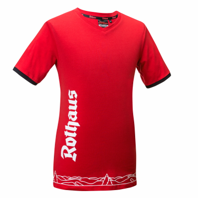 DAMEN T-Shirt Classic, rot
