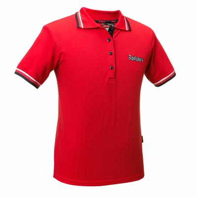 DAMEN Polo-Shirt Classic rot
