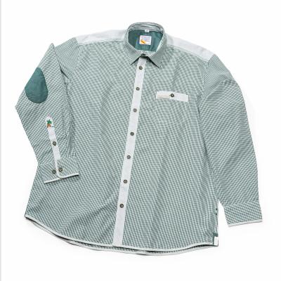 Trachtenhemd Herren, grün kariert