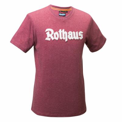 T-Shirt Rothaus (melange rot)
